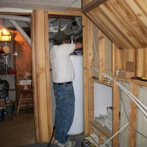 tying water lines into the plumbing