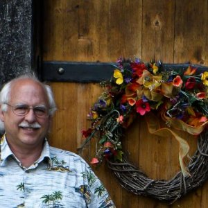 This is a photo of me at the enterance to Elkin Creek Vineyard and Winery.
