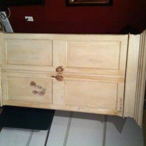 Licquor Cabinet with doors shut.