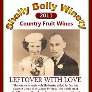 Label for Leftover Wine