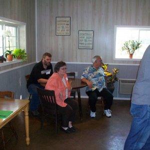 Ron(Ron22 - in the corner), Carol(Garys wife), Gary(Marks Dad), Chris(ckassotis - at the bar)