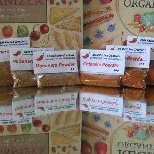 Premium Smoked Chipotle and Habanero Powders