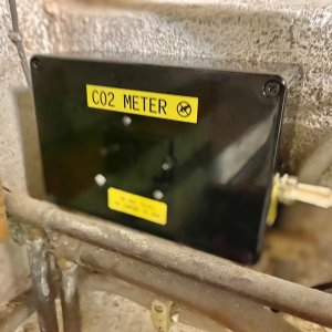 CO2 meter in cellar